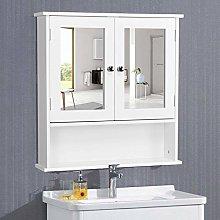 Yaheetech Bathroom Storage Cabinet Wood Wall