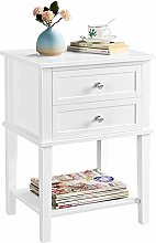 Yaheetech Bedside Table 2 Drawers End Table