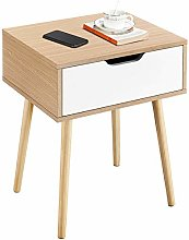 Yaheetech Bedside Table Bedside Cabinet with 1