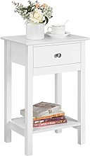 Yaheetech Bedside Table Wooden Side Table Shabby