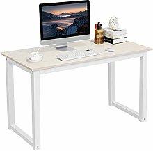 Yaheetech Beige Computer Desk PC Laptop Movable