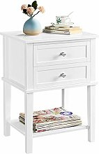 Yaheetech Beside Table with 2 Drawers,Wooden