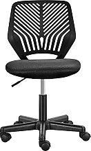 Yaheetech Black Armless Office Chair Cheap