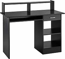 Yaheetech Black Computer Desk, Small Home Office