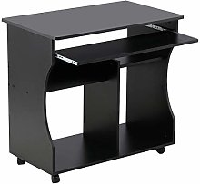 Yaheetech Black Movable Computer Writing Desk with