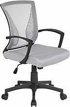 Yaheetech Gray Modern Office Chair Adjustable