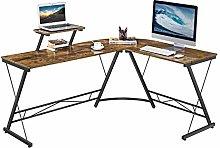 Yaheetech L Shaped Desk, Gaming Computer Corner