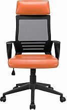 Yaheetech Orange Computer Chair Adjustable Desk