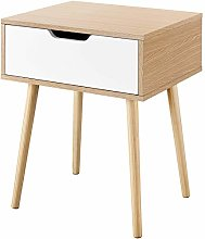 Yaheetech Wooden Bedside Chest of Drawer Durable