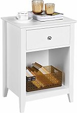 Yaheetech Wooden Bedside Table Nightstand Cabinet