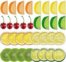 YAIKOAI 30 Pieces Plastic Fruit Slices, Artificial