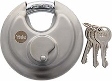 Yale 70mm Stainless Steel Discus Padlock- High