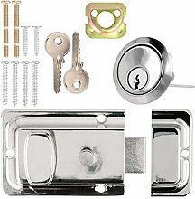 Yale Chrome Night Latch 60mm Front or Back Door