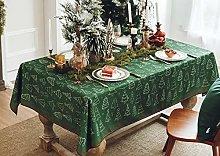 YALINA Fabric Waterproof Tablecloth, Chenille