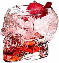 YAMAXUN 4PCS Skull Glass Double Wall Shot Whisky