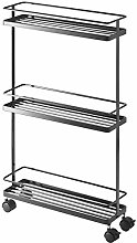 Yamazaki Storage cart, Steel, Black, One size