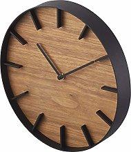 Yamazaki Wall Clock, Wood, Brown, One Size