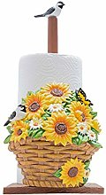 Yamyannie Paper Towel Holder Floral Decorative