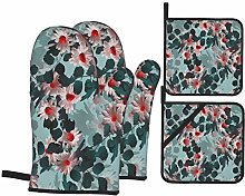 YANAIX Oven Mitts and Pot Holders 4pcs