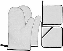 YANAIX Oven Mitts and Pot Holders 4pcs Set,Texture