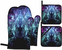 YANAIX Oven Mitts and Pot Holders 4pcs Set,Thick