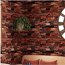 Yancorp Self-Adhesive Wallpaper Rust Red Brown