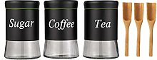 Yangbaga Canister Set with Spoon, Tea Coffee and