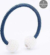 YangD Curtain Tie Backs Pair, Magnetic Pearl Bead