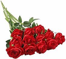 YANGMAN-ART Artificial Roses,Single Long Stem Silk
