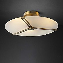 Yangmanini All Copper Ceiling Light, Round Living