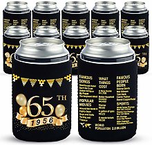 Yangmics 65th Birthday Can Cooler Sleeves Pack of