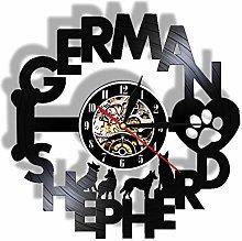 YANGSHUANG Vinyl Wall Clock German Black Back