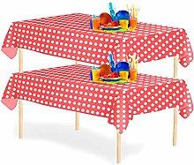 YANGTE 6 Pack Disposable Polka Dot Tablecloth