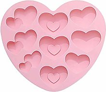 YANGYOU Love Cake Mold - 9 Cavity 3d Heart
