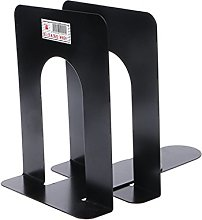 Yanhonin 2pc Simple Iron Bookends Storage Stand