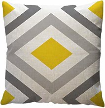 YanHoo Fashion Pillow Case,Yellow Geometric