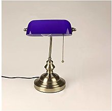 Yanqhua Table lamp Classical vintage banker lamp
