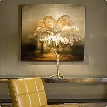 Yanqhua Table lamp Feather Floor Lamp Stand Led