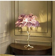Yanqhua Table lamp Nordic Feather table lamp Palm
