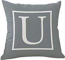 YANZHI 2020 New White Letters Gray Pillow Case