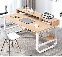 YAOJP Computer Desk with Storage Shelves,