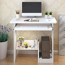 YAOJP Small Computer Desk with Keyboard Tray -