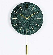 YAOLUU Living room decoration wall clock Marble