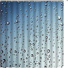 YAOLUU Shower Curtain Raindrops Bubble Shower