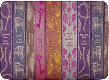 Yaoni Bath Mat Author Jane Austen Books Classic