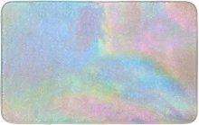 Yaoni Bath Mat Watercolor Bright Iridescent