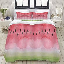Yaoni Duvet Cover,Funny Watermelon rind Black Seed