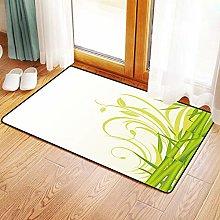 Yaoni Non-Slip Mat Microfiber Bathroom Rug Shower