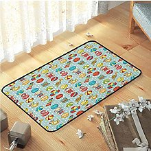 Yaoni Throw Rug, for New Home,Easy Care Decor