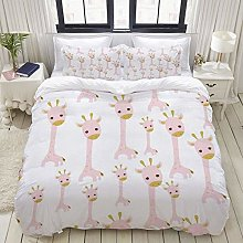 Yaoniii bedding - Duvet Cover Set, Abstract Pink